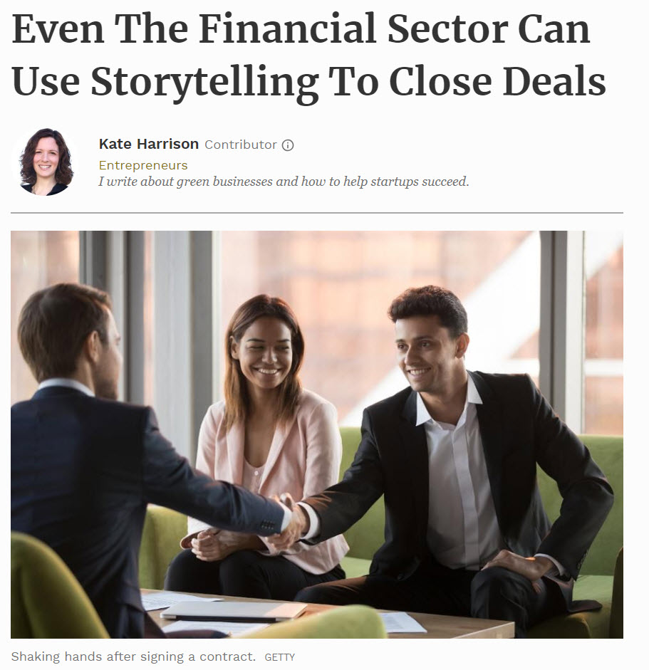 Forbes Storytelling for the Financial Sector
