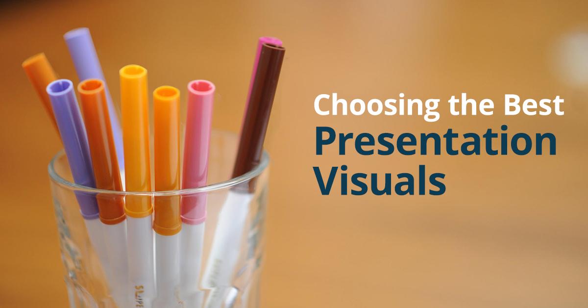 How to choose presentation visuals