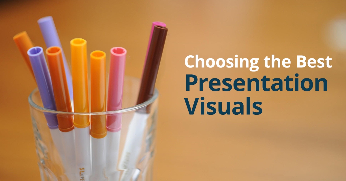 How to choose presentation visuals