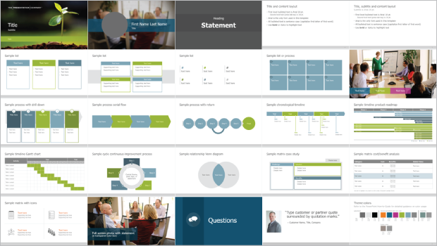 Corporate Presentation Template Example