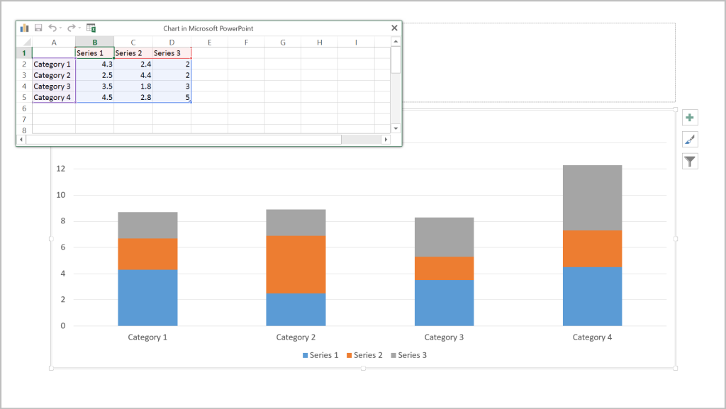 Insert Data in PPT Chart