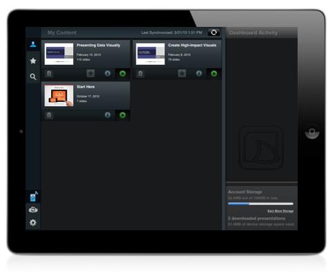 Slideshark interface