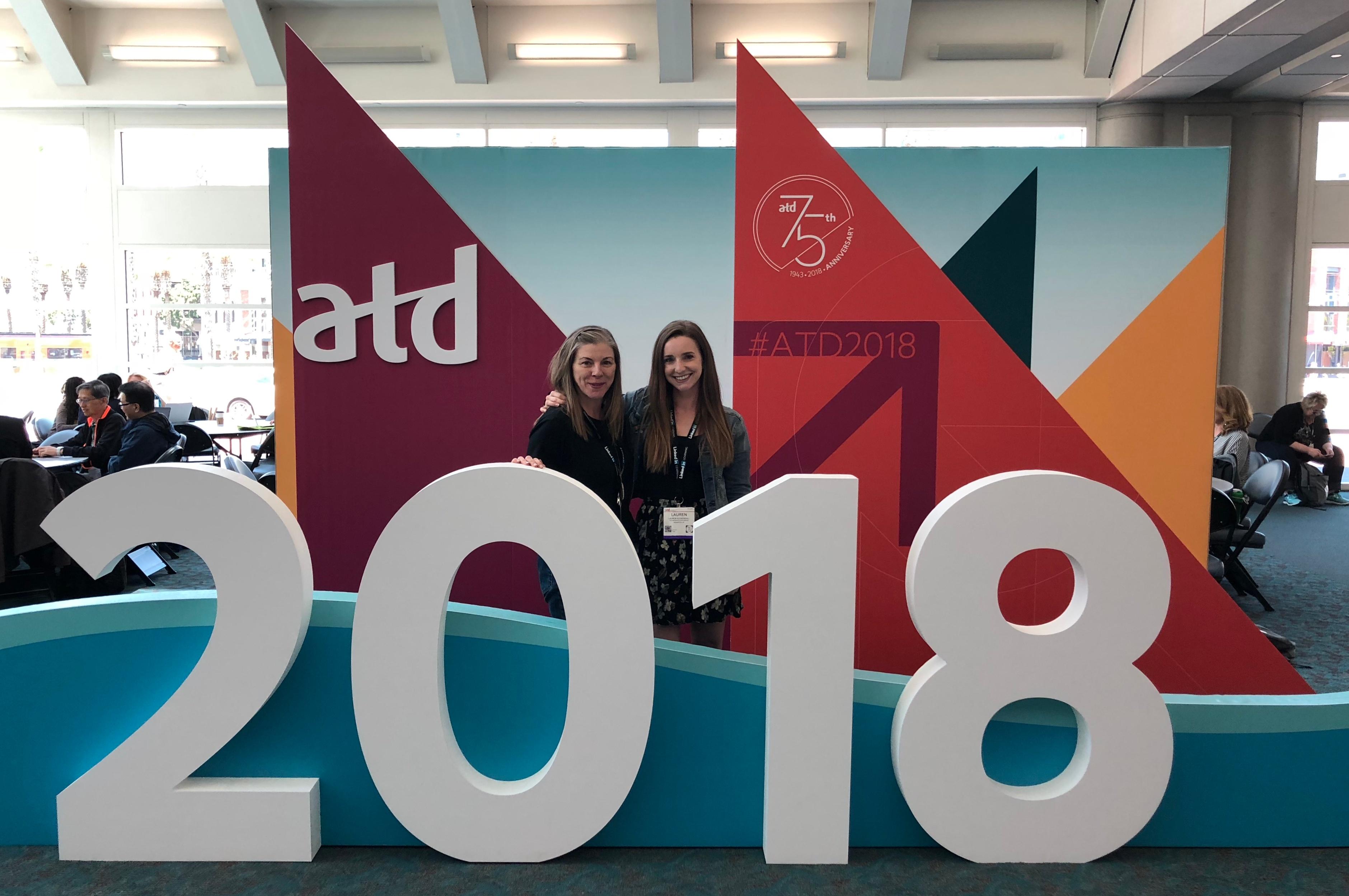 Lauren Kuykendall and Melony Bravmann at ATD 2018