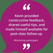 Corporate Storytelling Workshop Testimonial